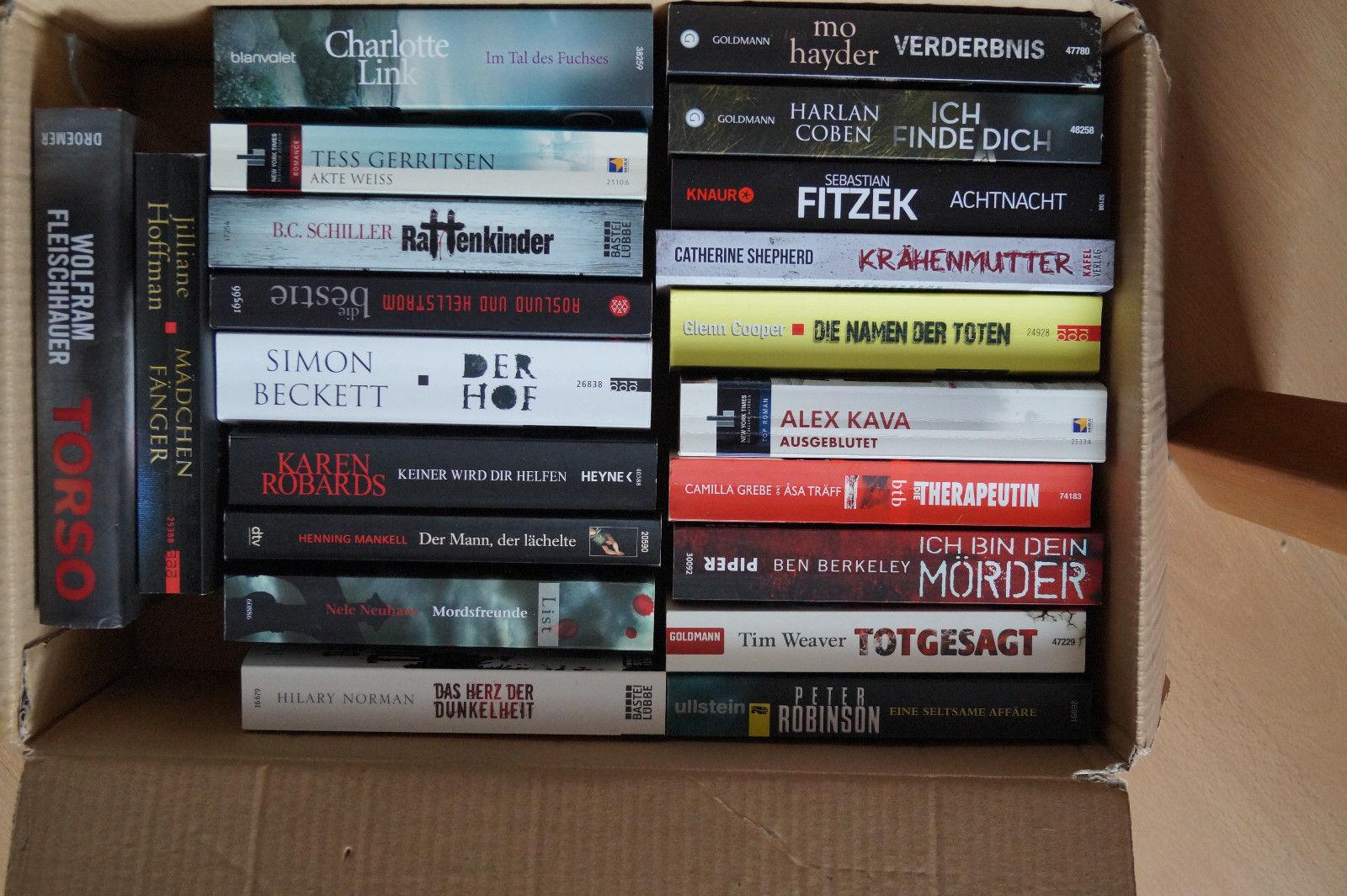 21x super aktuelles Krimi & Thriller Buchpaket Beckett, Fitzek, Link, Hayder...
