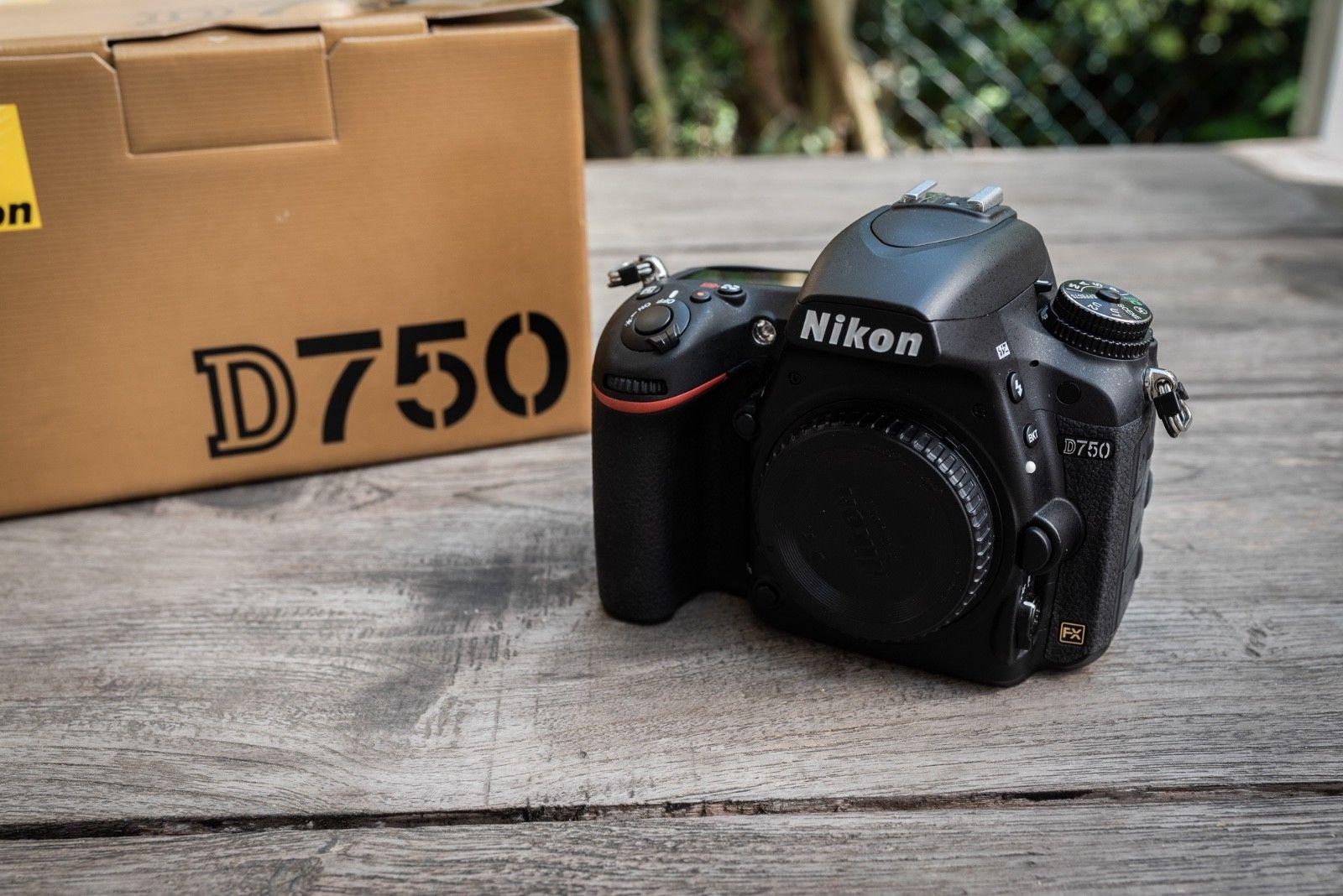 Nikon D750 24.3 MP SLR-Digitalkamera - Schwarz (Nur Gehäuse)