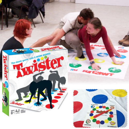 Twister Game Bradley Milton Moves Dance Board Sealed You Fun Family Ties HOT!!