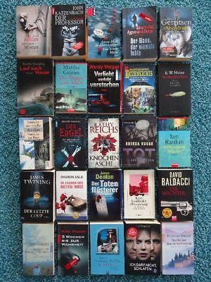 Paket 25 Bücher Krimis Thriller: Gerritsen Katzenbach Rankin Reichs Baldacci