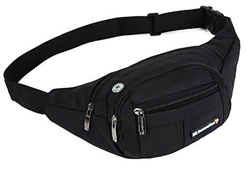 Wasserdichte Bauchtasche für Reise, Sport & Outdoor Aktivitäten. Gürteltasche für Damen und Herren. Hüfttasche mit Kopfhöher-Öffnung.