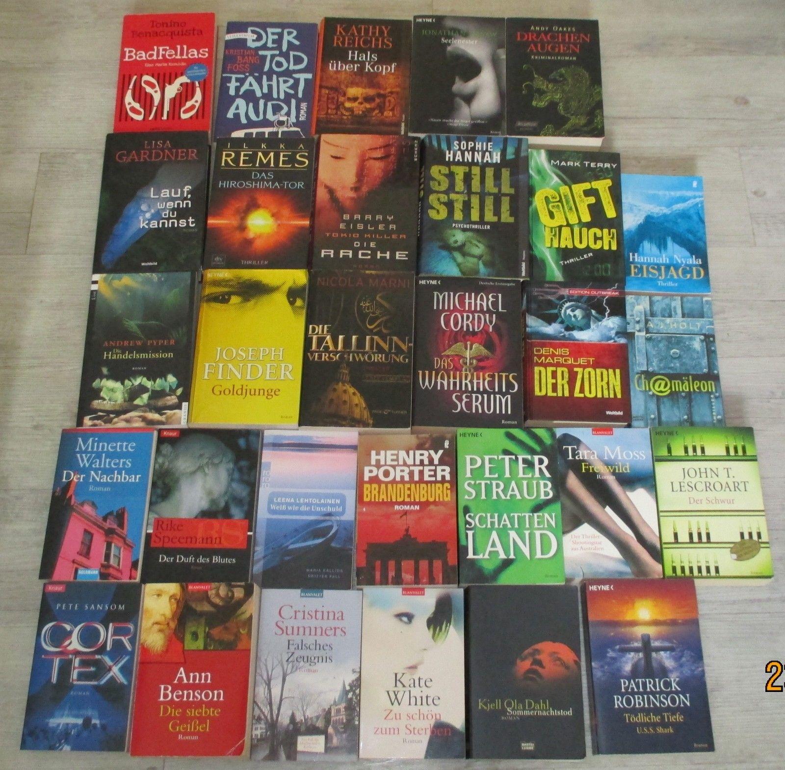 Büchersammlung Buchpaket 30 x Krimis Thriller Spannung Top Bücherpaket