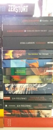 Krimis/Romane Slaughter,Fielding,Gerritsen.. Büchersammlung Gone Girl,Verdammnis