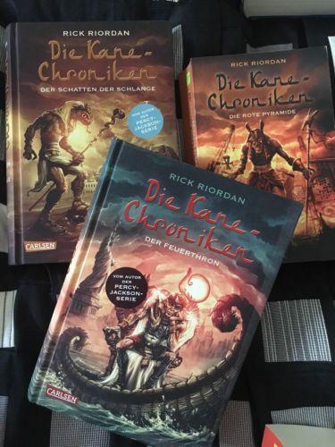 Die Kane-Chroniken 3 Bücher Rick Riordan (vom Autor der PERCY JACKSON Serie)