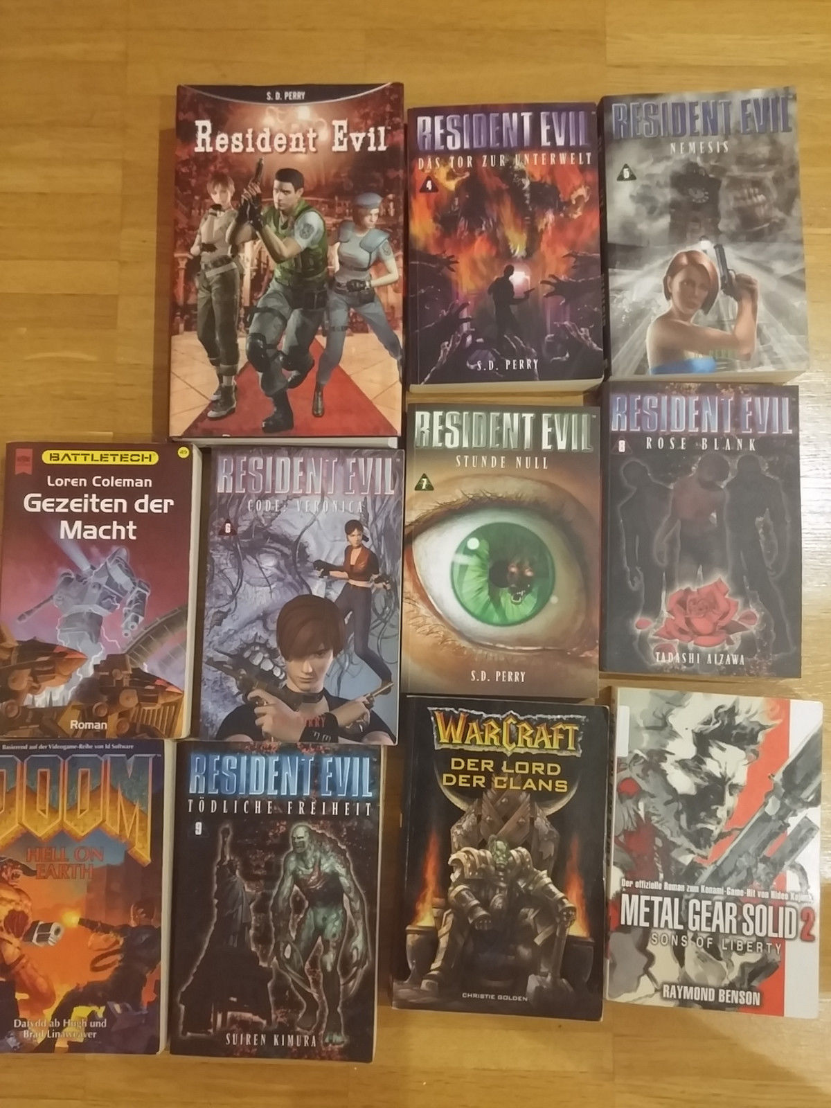 Resident Evil Sammlung plus Bonus,Metal Gears Solid...