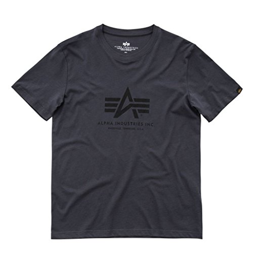 Alpha Industries Herren Oberteile/T-Shirt Basic Grau 3XL