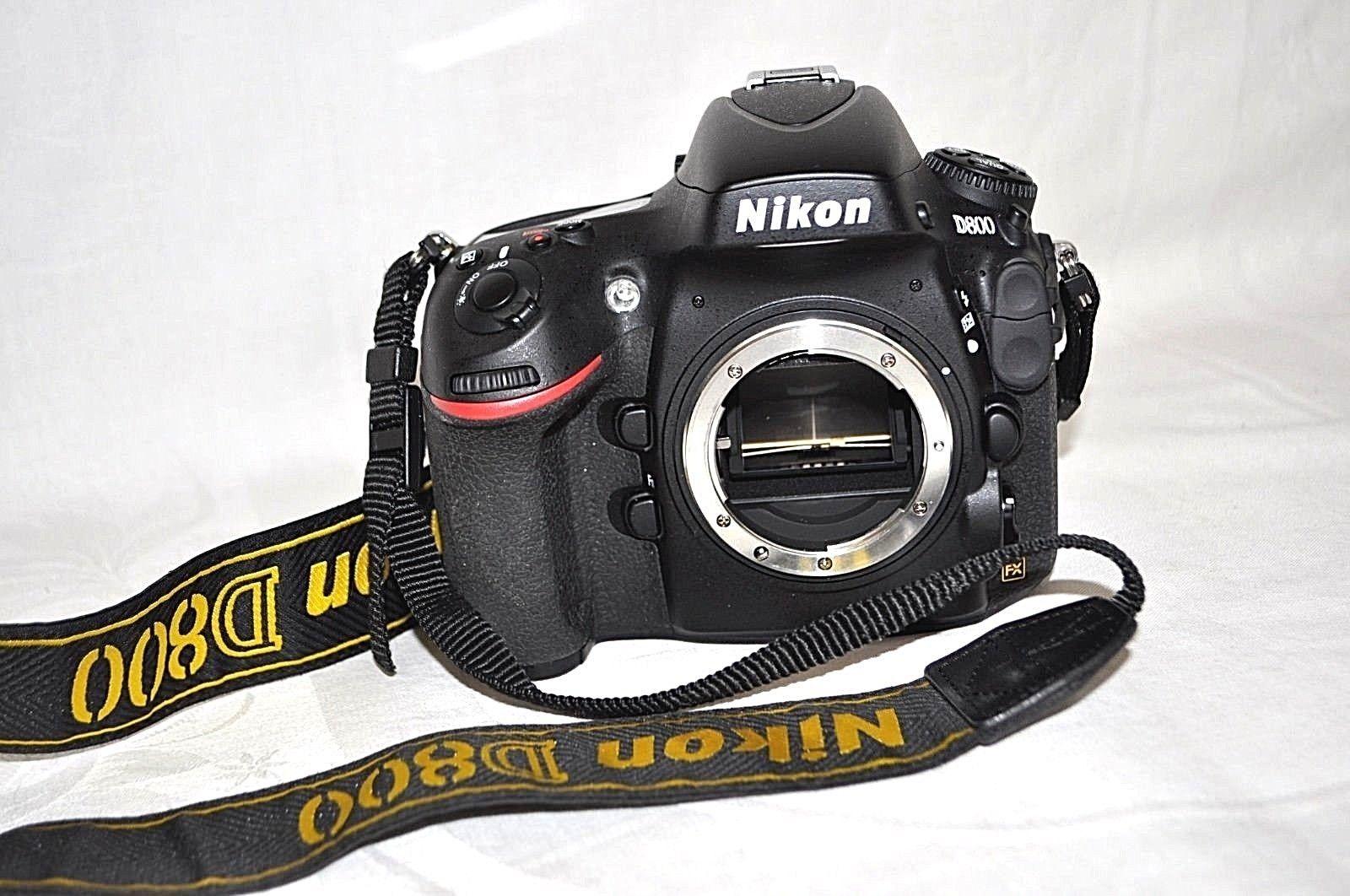 Nikon D D800 36.3 MP SLR-Digitalkamera - Schwarz (Nur Gehäuse)