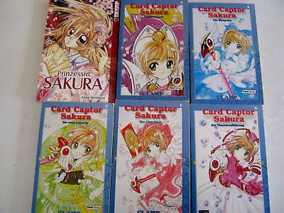 6 Taschenbücher - MANGA - Card Captor Sakura / Prinzessin Sakura