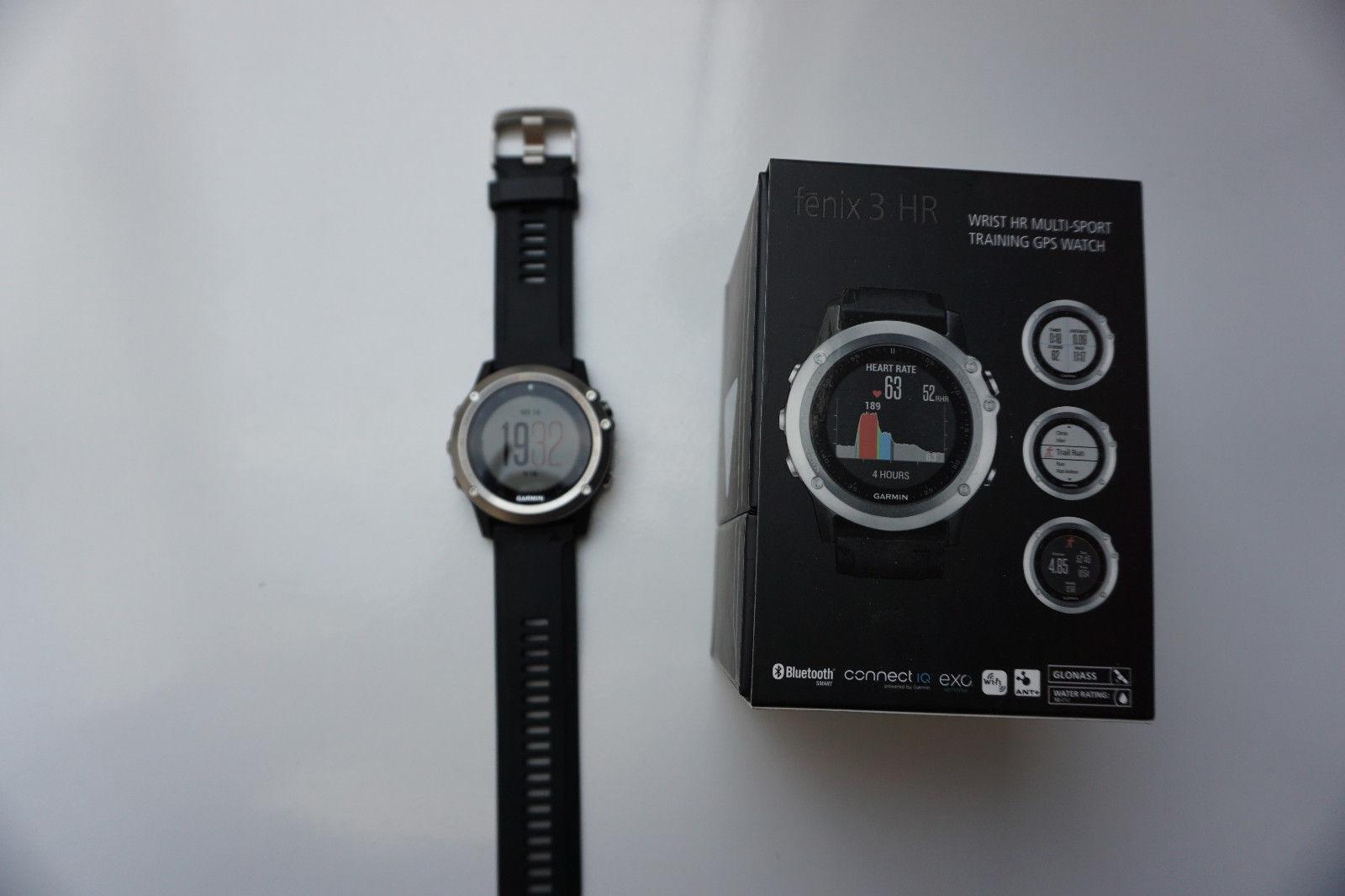 GARMIN fenix 3 HR, GPS Multisport, Schwarz/Silber, Bluetooth WLAN + Rechnung