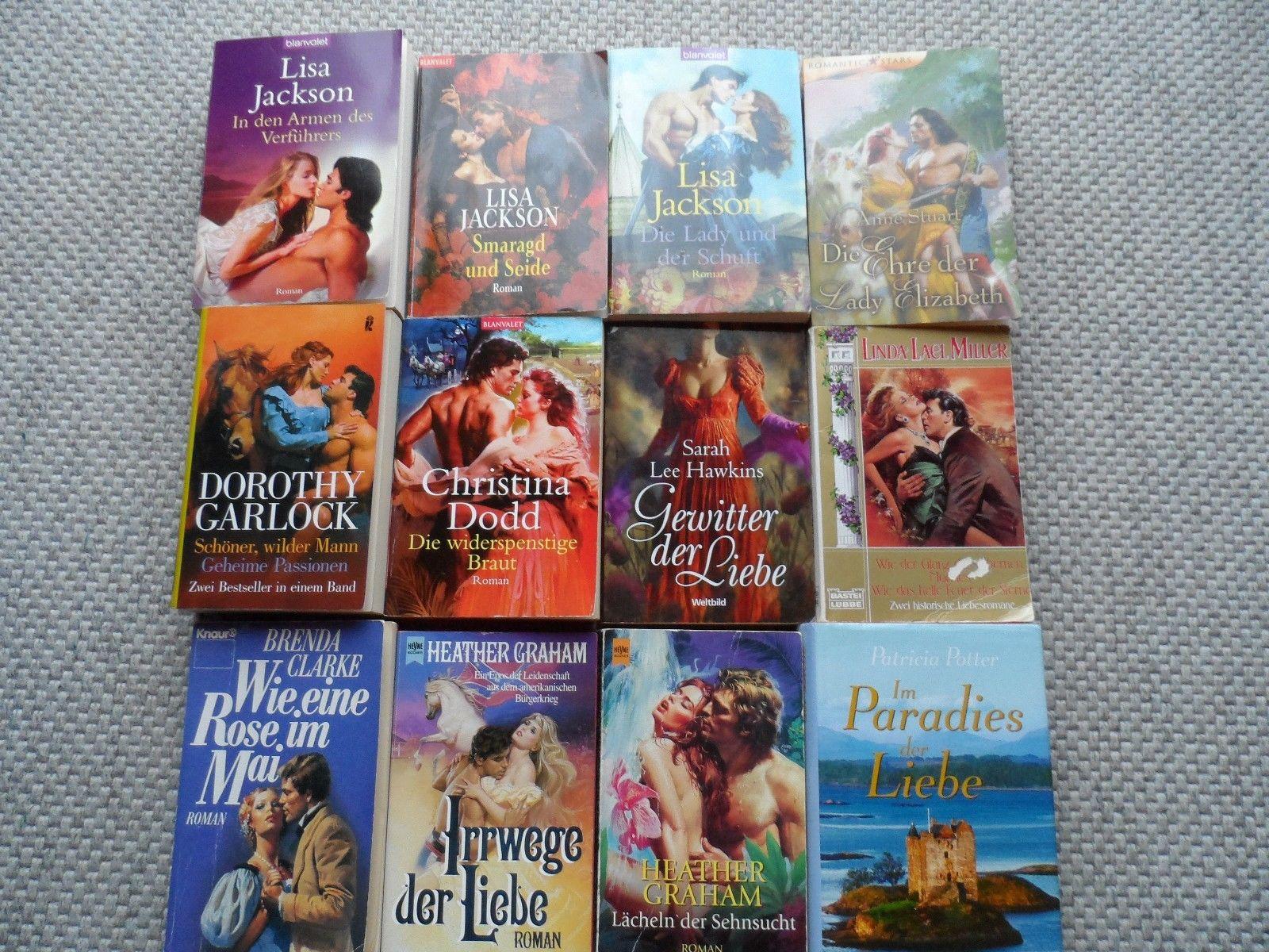 Paket - 12 Romane Liebe Romantik  -  Jackson, Garlock, Dodd, Graham, Potter ....
