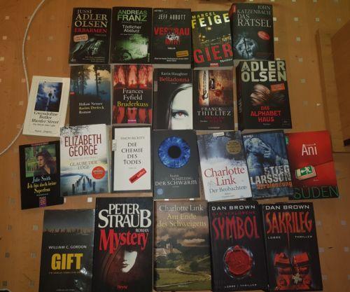 Bücherpaket  23  Bücher Spannung Thriller Krimi  Franz, Abbott ,Olsen,Feige,
