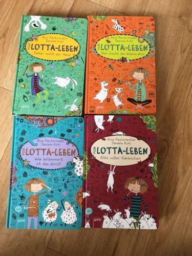 Lotta Leben 4 Bücher Sammlung Paket TOP ZUSTAND