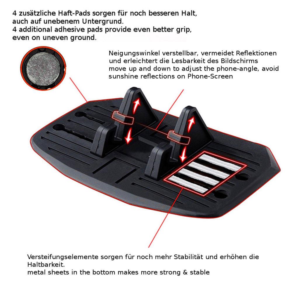 Anti-Rutsch Matte Auto Handy Halterung Smartphone Antirutschmatte Halter PKW LKW