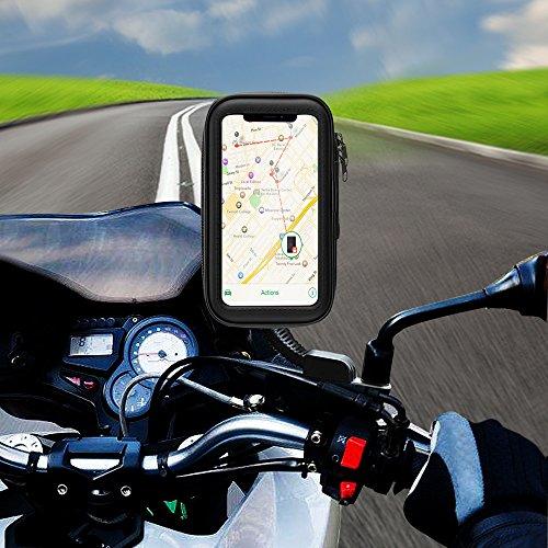 Motorrad Handyhalterung , Solawill Wasserdicht Motorrad Halterung 360°drehbar Motorrad Schutz Tasche Handytasche für iPhone X /8 Plus /7 Plus, Galaxy S9/S8 etc Smartphones bis 5,8 Zoll