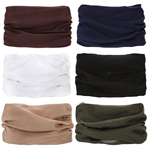 Sea Team Schal/ Tuch, Polyester, vielseitig verwendbar, sportliche und lässige Kopfbedeckung, kann als Halstuch, Bandana, Stirnband, Skimaske verwendet werden, sortiert, 6er-Pack style 14