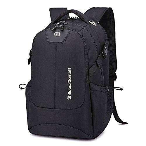 17 Zoll Laptoprucksack für Herren und Damen. Notebook Laptop Rucksack für die Schule. Gepolstert Wanderrucksack. (Schwarz, 42L Schwarz)