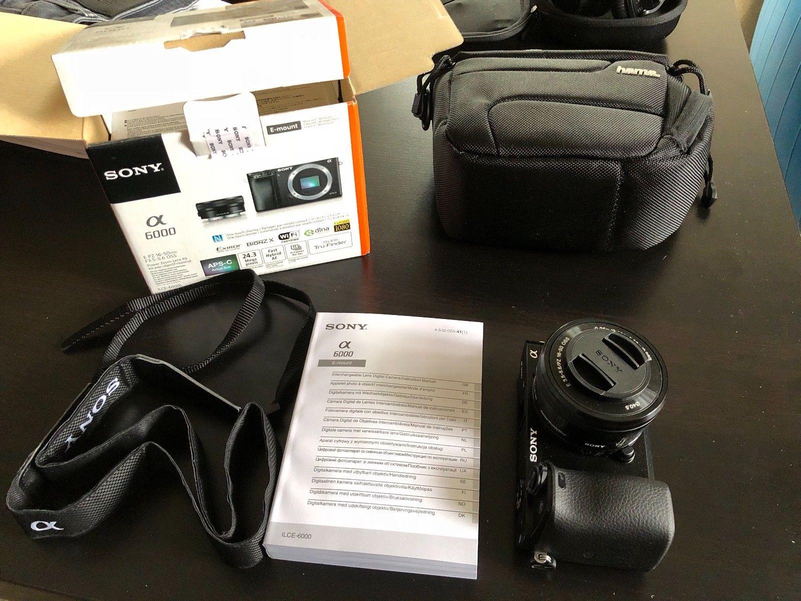 Sony Alpha ILCE-6000L 24.3 MP SLR-Digitalkamera - Schwarz Kit