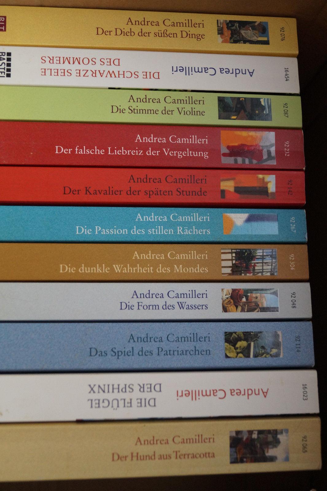 Andrea Camilleri Krimi Bücherpaket - 11 Bücher - , super Zustand