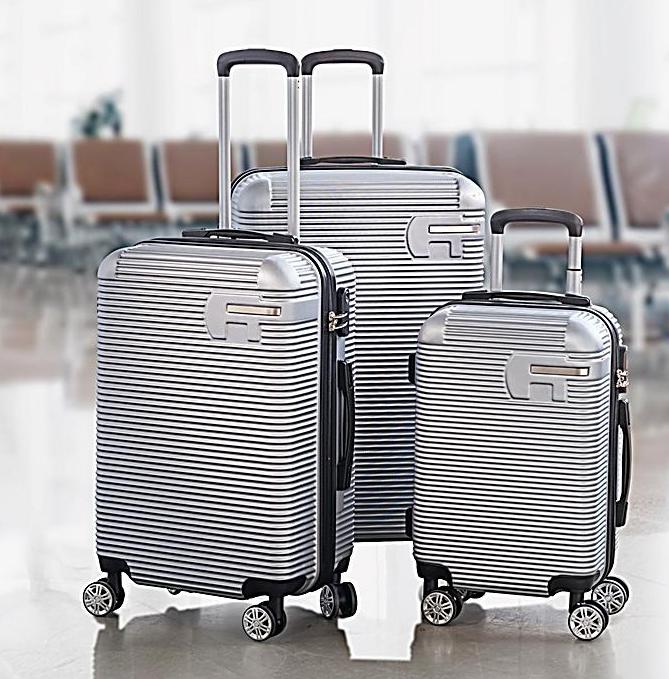3 tlg Kofferset Carbon Optik Koffer Hartschalen-Koffer & 4 Rollen Zahlenschloß