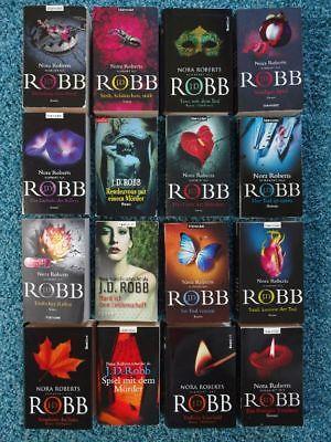 Paket 16 x J.D. Robb Nora Roberts Bücher Krimis: Sündiges Spiel Tödlicher Ruhm