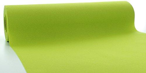 Sovie HORECA Linclass® Airlaid Tischläufer 40 cm x 24 m / Tischdecken-Rolle stoffähnlich / praktische Einmal-Tischdecke für Hochzeit oder Partys / Kiwi-Grün