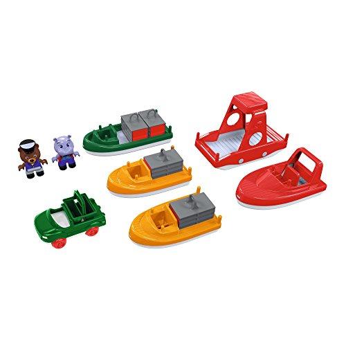Aquaplay 8700000240 - Bootmix mit 6 Boote und 2 Figuren