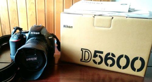 Nikon D D5600 24.0MP Digitalkamera - Schwarz (Kit mit AF-P VR 18-55mm Objektiv)…