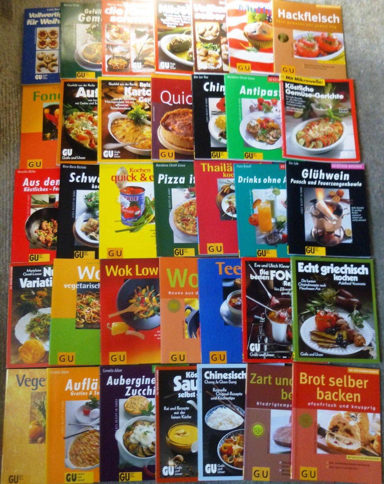 Kochen, Gräfe und Unzer, verschiedene Themen, 146 Bücher, broschiert