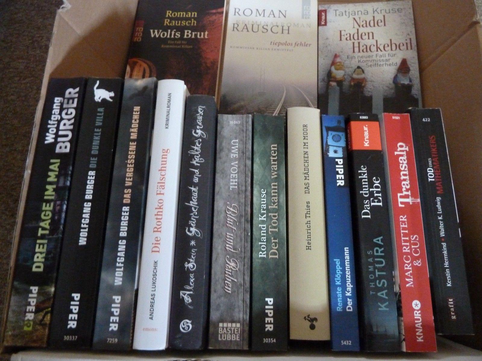 15 x Regional Krimi -Thriller- Romane - Bücherpaket !! Burger Ritter Kastura