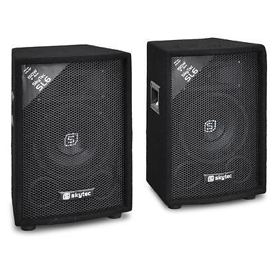 Paar PA Lautsprecher DJ Disco Party Box Passiv Verstärker Soundsystem 300 Watt