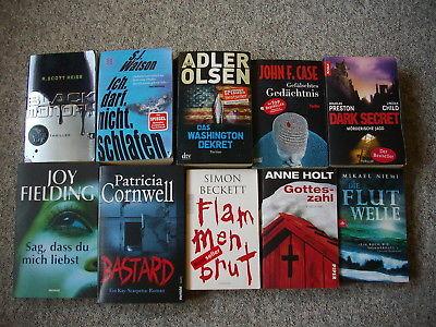 Buchpaket 10 Taschenbücher Krimi & Thriller Beckett Adler Olsen Watson Holt u.a.