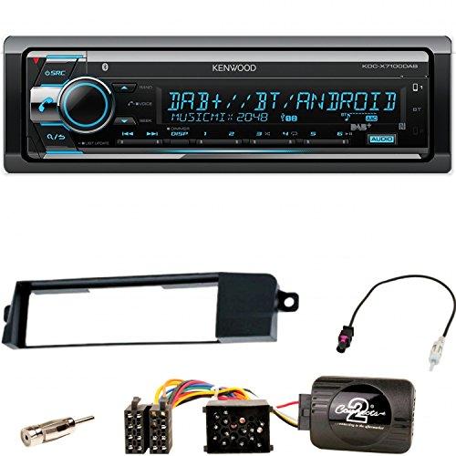 Kenwood KDC-X7100DAB Autoradio Digitalradio DAB+ Bluetooth CD USB AUX 1-DIN Einbauset für BMW 3er E46