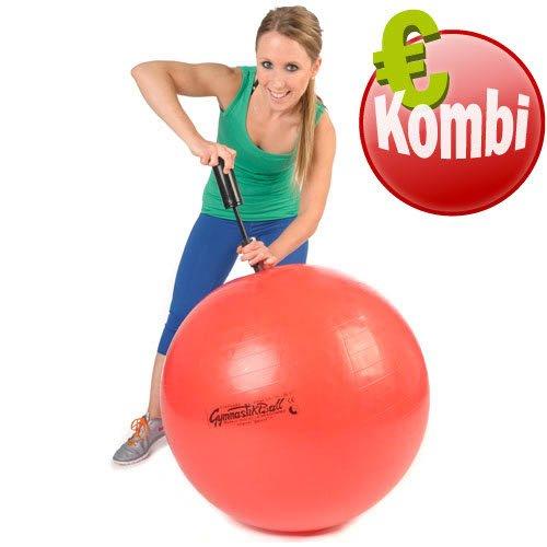 Original Pezzi Gymnastik Ball 75cm plus Pumpe Sitz Therapie Pilates Aerobic rot