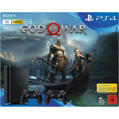 SONY PlayStation 4 1 TB Black inkl. God of War und 2 x DUALSHOCK®4 Wireless-Cont