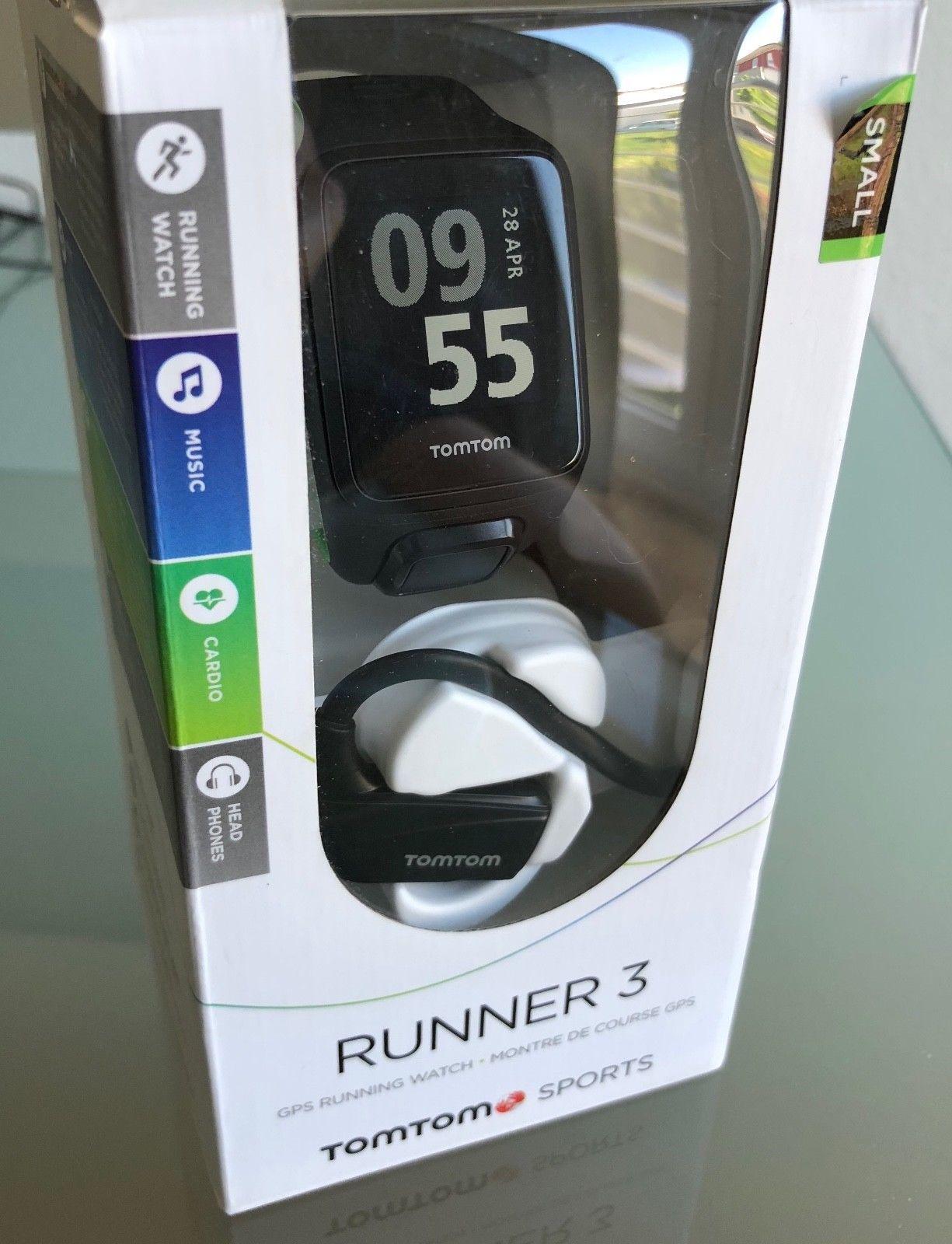 TomTom Runner 3 GPS mit Kopfhörern - WIE NEU, nur einmal getestet - Größe: Small