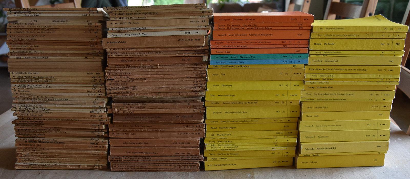 Sammlung: 157 Reclam-Hefte