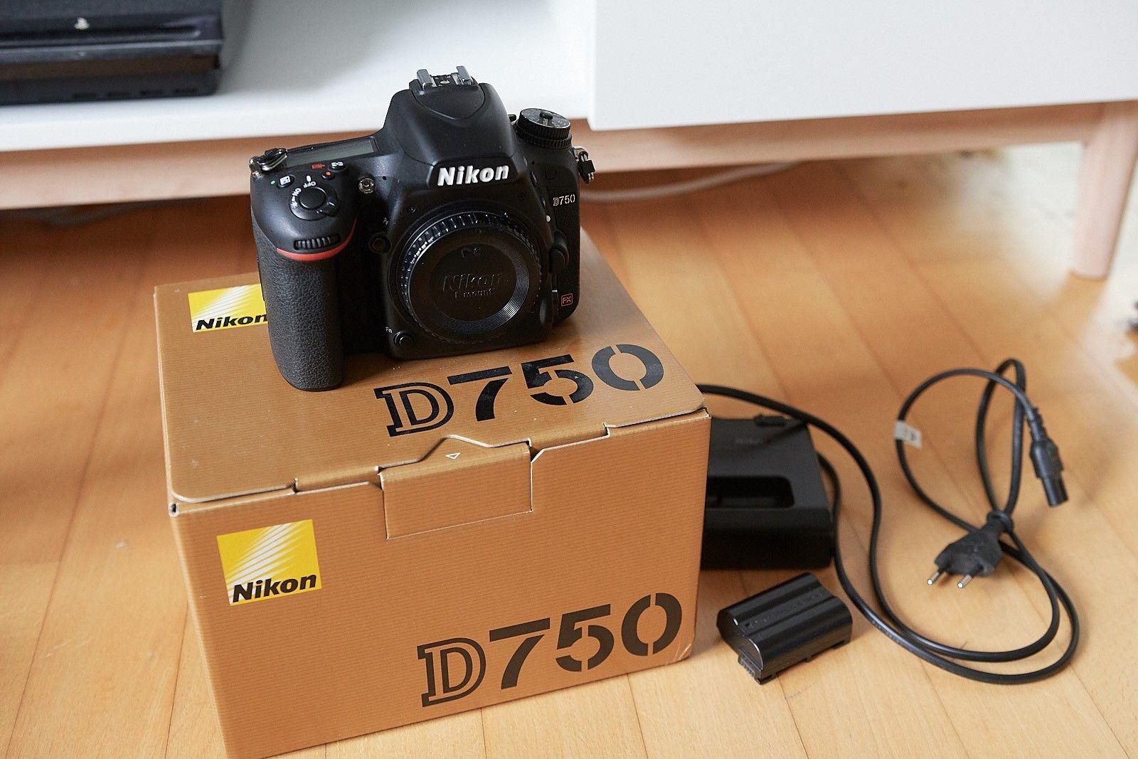 Nikon D750 24MP Vollformat Kamera, sehr guter Zustand mit Restgewährleistung