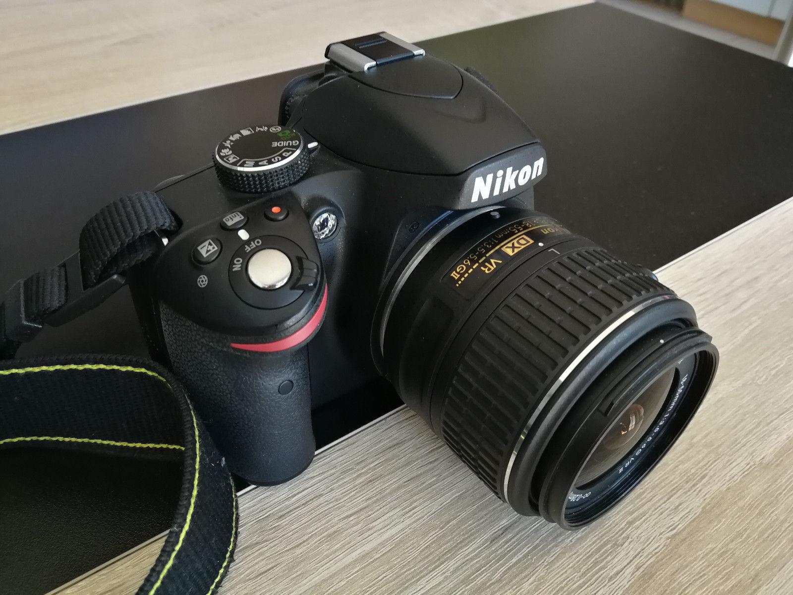 Nikon D3200 digitale Spiegelreflexkamera mit umfangreichem Zubehörpaket