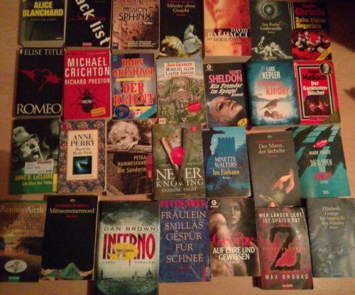 40 Bücher Buchpaket 40 Krimi Romane Krimis Thriller Spannung  Büchersammlung
