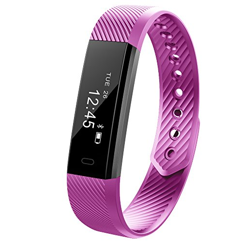 Smart Fitness Activity Tracker, Muzili YG3 Sports Armband Wristband Schrittzähler Touchscreen mit Step Tracker / Kalorienzähler / Sleep Monitor Tracker / Call Benachrichtigung Push für iPhone iOS und Android Phone …