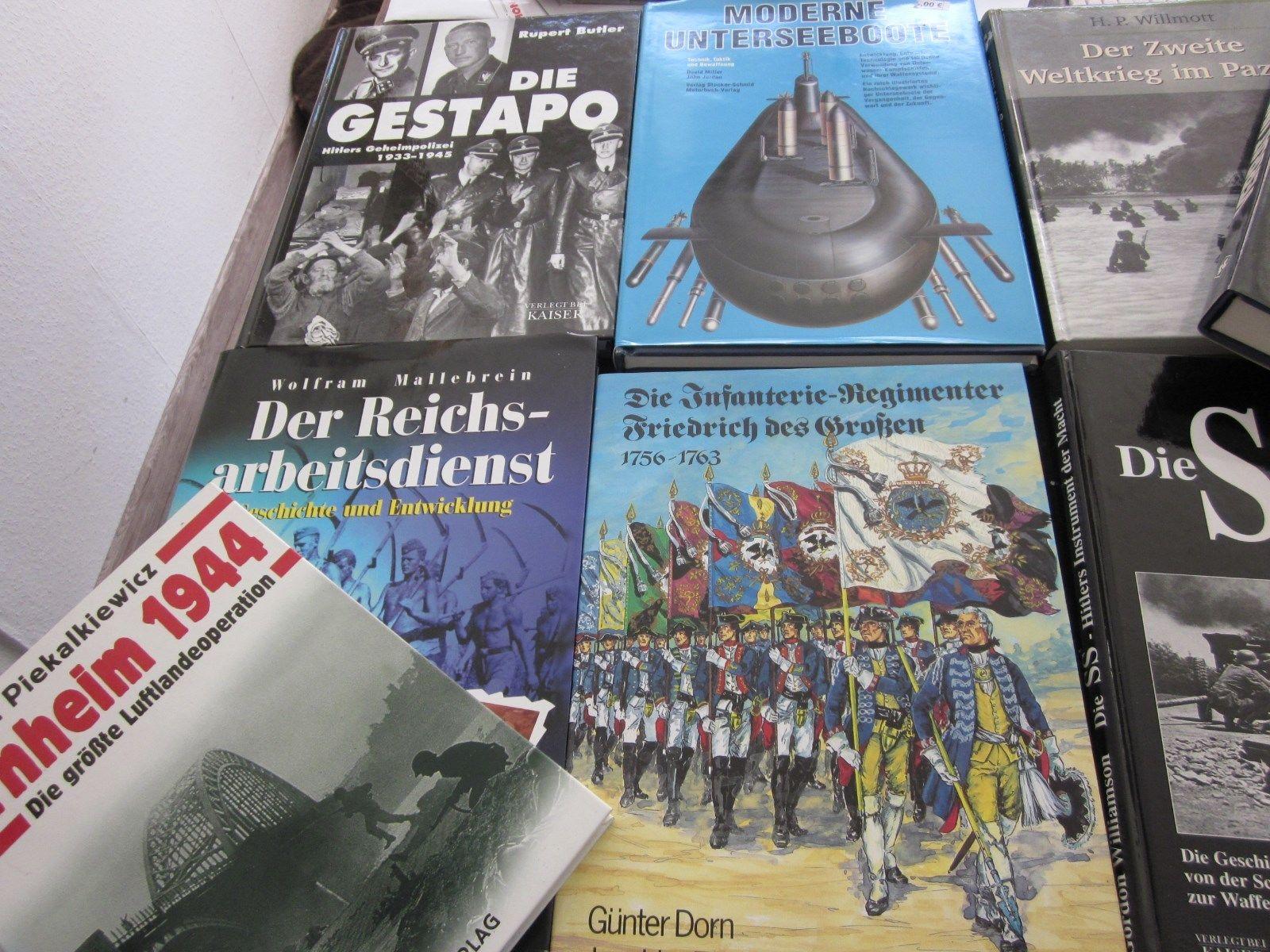 50 Kriegsbücher 2.Weltkrieg usw.