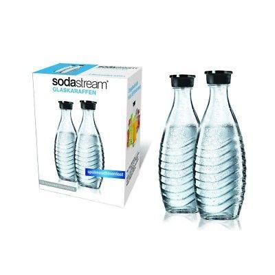 2 X SODASTREAM GLASKARAFFE FLASCHE 0,6 L  ( DUOPACK )  FÜR CRYSTAL  PENGUIN NEU