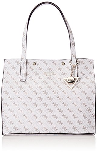 Guess Damen Bags Hobo Schultertasche, Weiß (White), 17.5x31x35 centimeters