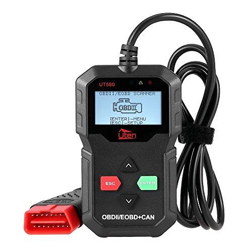 OBD2 Diagnosegerät für alle Fahrzeuge OBD2 Scanner, Uten Fehlerauslesegerät KFZ mit OBD2 USB zum Lesen und Löschen des Motorfehlercodes