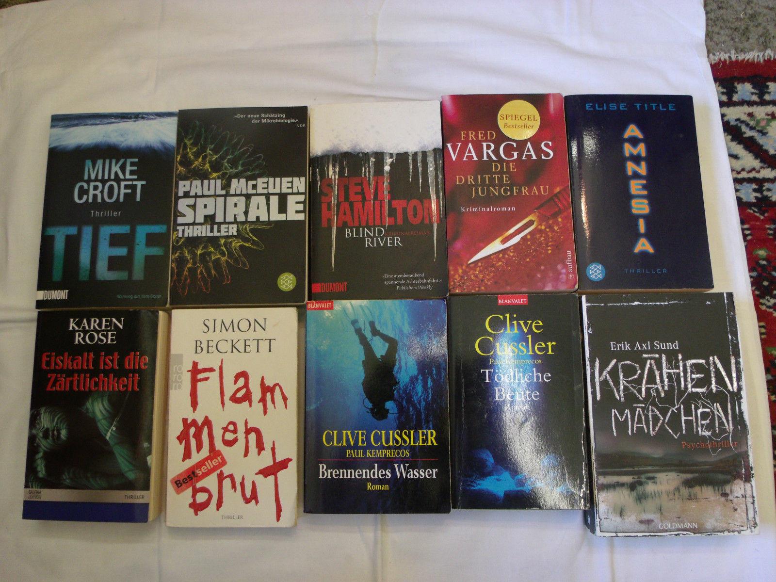 Bücherpaket, Thriller & Krimis