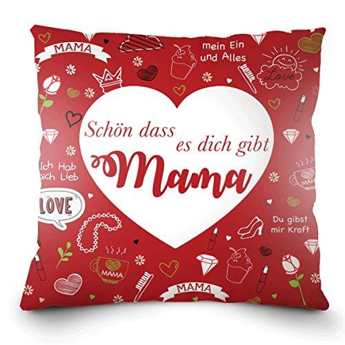 Weiches Kissen zum Muttertag oder Mamas Geburtstag mit dem Aufdruck auf Deutsch -