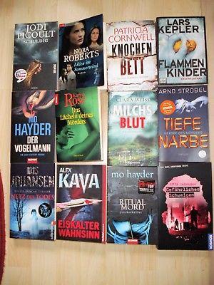 Bücherpaket 12 Bücher  Taschenbücher  Krimi und Thriller