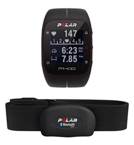 Polar M400 mit Brustgurt, Trainingscomputer mit GPS, Herzfrequenzmessung