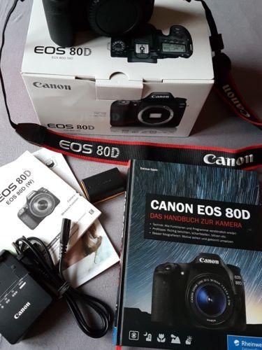 Canon EOS 80D 24.2 MP SLR-Digitalkamera -Schwarz(Nur Gehäuse)ca.8000 Auslösungen