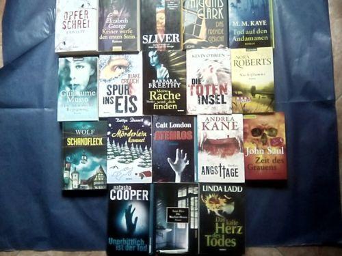 18 Romane- Krimi - Thriller - Bücherpaket° TOP!!!